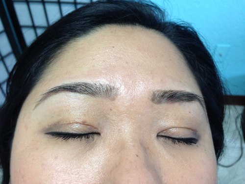 Eyebrow Tinting: After