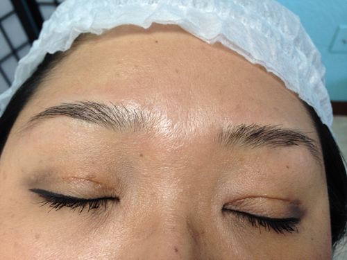 Eyebrow Tinting: Before